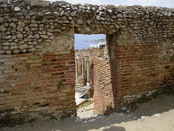 Taormina; Roman ruins