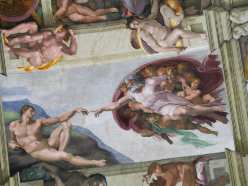 Sistine Chapel; Michelangelo's The Creation of Adam