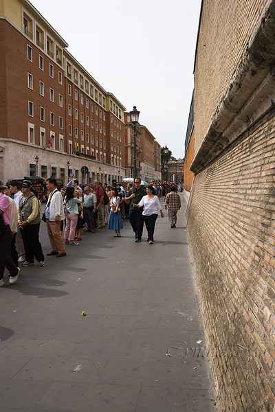 Lines at the Vatican