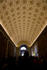 One of the many ornate ceilings in the Vatican Museum.