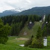 Site of the 1956 Winter Olympics in Cortina d'Ampezzo at Trampolino Olimpico.