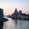 Taken from the Ponte dell'Accademia. A view of the Basilica di Santa Maria della Salute on the Grand Canal in Venice.