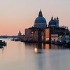 Taken from the Ponte dell'Accademia. A view of the Basilica di Santa Maria della Salute on the Grand Canal in Venice at sunrise.