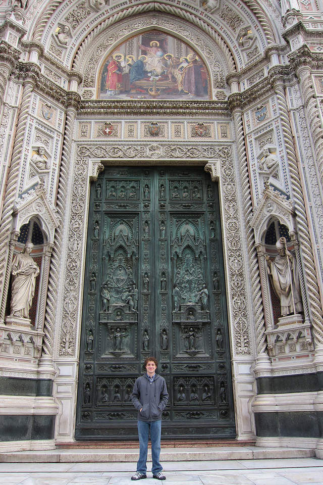 The entrance to the Duomo.
