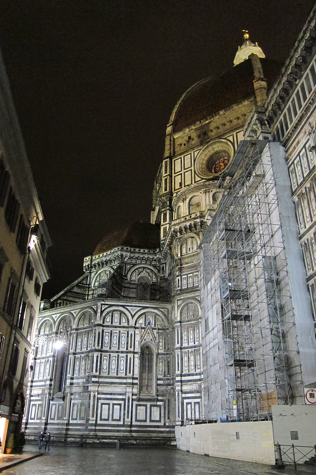 The Duomo in Florence at night. I just arrived and it had just stopped raining.