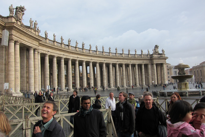 The line to enter the Basilica was remarkably short.