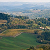 A view from San Gimignano looking South East -The 'guesthouse'  Pietrafitta Podere La Costa in the foreground.