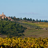 A hilltop Tuscan village...from the Val d'Orchia looking North across autumnal vinyards