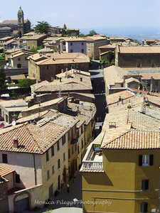 Montepulciano from the town's tower.