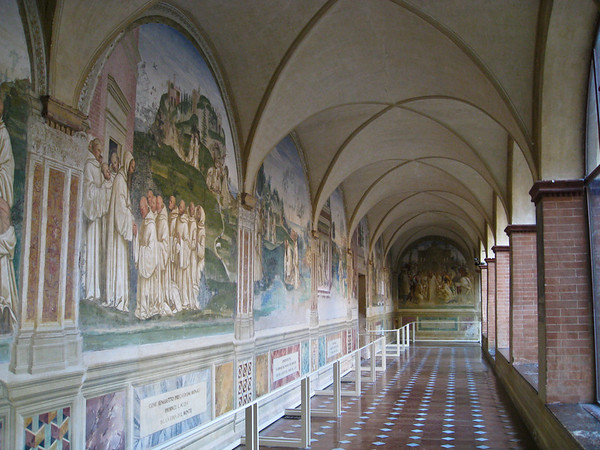 The Abbazzia is decorated with 36 frescoes by Luca Signorelli