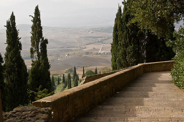 Views of Tuscany as seen from Pienza