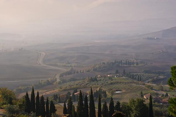 Pienza vista of Tuscany