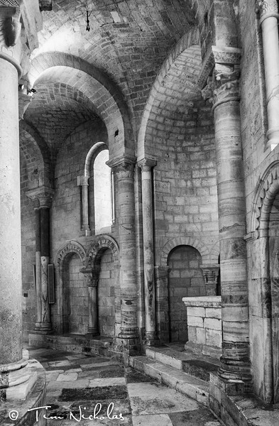 Inside the 12th century former Benedictine monastery of Sant'Antimo