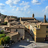 Montalcino: view of the town from the castle