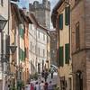 Montalcino: typical pedestrian street