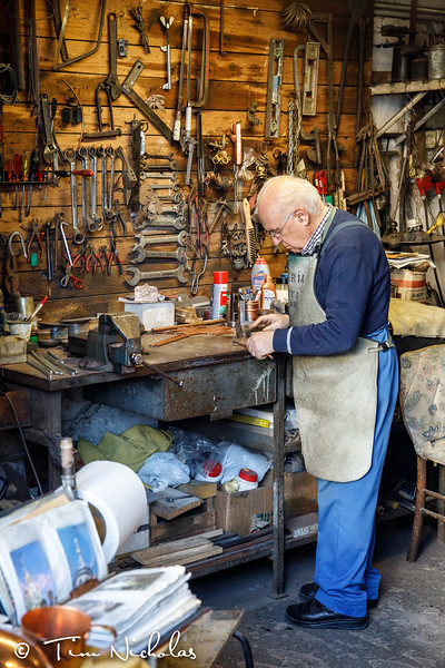 Local craftsmanship is still important:  coppersmith