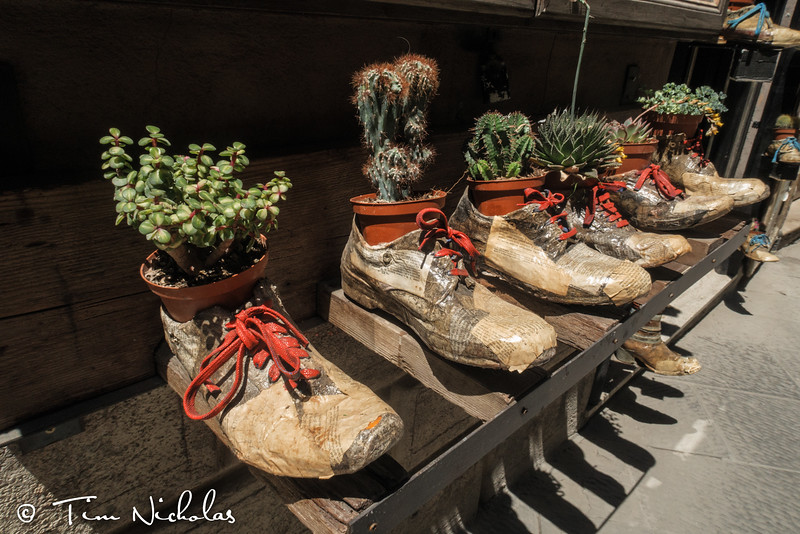 Decorative re-use of some old shoes!
