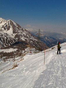 Skiing in La Thuile during the Moriond conference