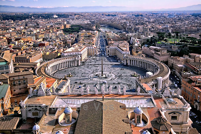 View Over Saint Peter's Square  Taken from the top of St Peters Basilica