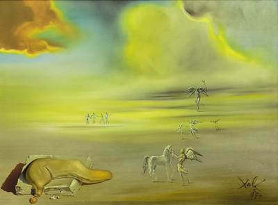 Soft Monster in Angelic Landscape by Salvador Dali, 1977