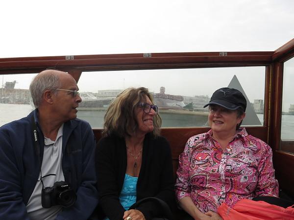Joe, Clara and Ann in the launch