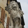 Asolo - lion of Venice on top of fountain