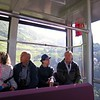 In the gondola from Bolzano to Soprabolzano - Carla, John, Beth and Daniele