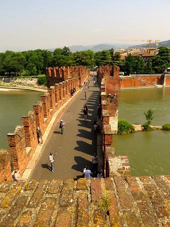 Castle escape route -  Castel Vechio museum - Verona