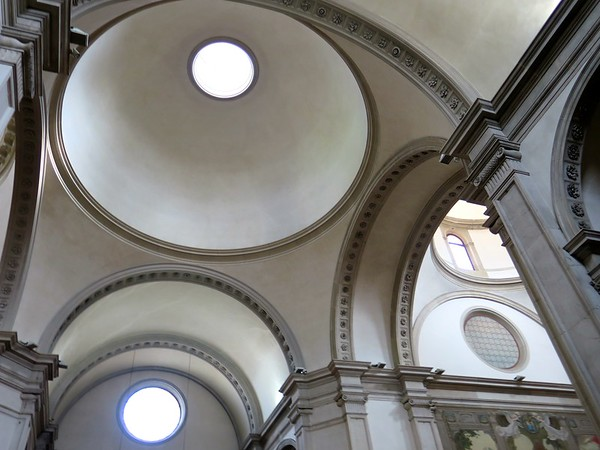 Palladian domes in Treviso cathedral<br>