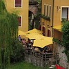restaurant errace by the river  -   Bassano del Grappa
