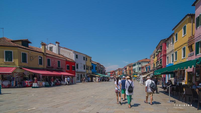 Burano,Lagoa de Veneza, Italia