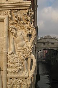 In Venice during the Festa della Befana - details of the Palazzo Ducale di Venezia