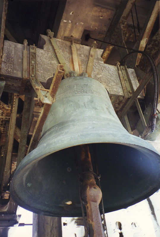 The bell in the tower of St. Mark's Square in Venice, Italy<br /> I thought if I'm in a bell tower I should tak a picture of the bell, even though we go there for the view.