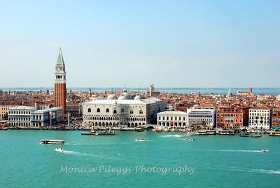 View from the top of  San Giorgio Maggiore.