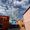 Background: Church of San Martino / Chiesa di San Martino<br /> Burano, Italy