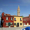 Background: Church of San Martino / Chiesa di San Martino<br /> Burano, Italy