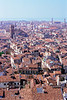 Venice rooftops view from Bell Tower in Piazza San Marco