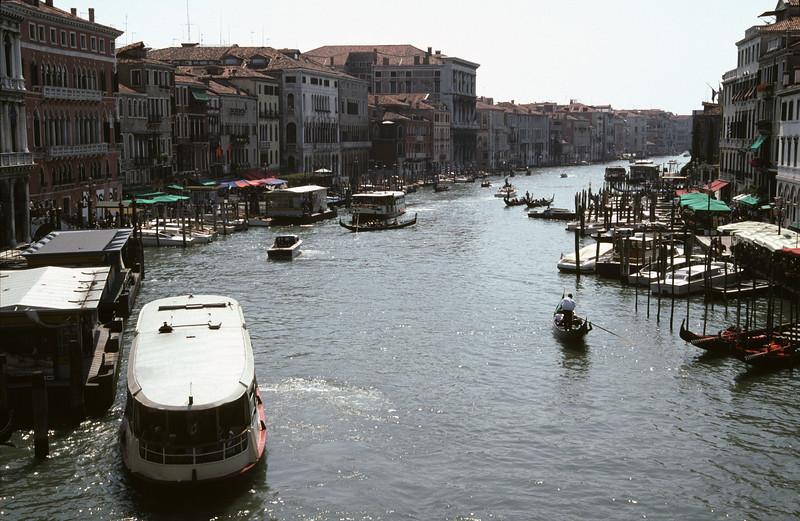 Grand Canal Venice view from Rialto Bridge
