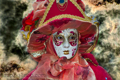 Costumed Reveler of the Carnival of Venice