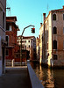 Traffic lights at canal Venice