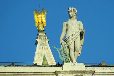 Statues atop the buildings at St Marks Square