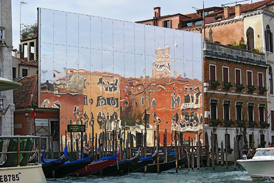 A pretty reflection along the Grand Canal as we traveled by water taxi back to our hotel
