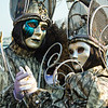 A Pair of Costumed Revelers of the Carnival of Venice