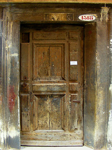 Interesting old wooden door