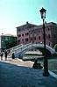 Footbridge over the canal Venice