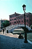 Footbridge over the canal Venice