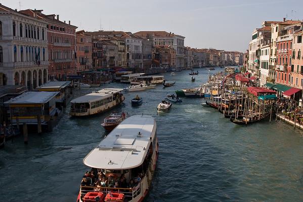 Vaporettos on the Grand Canal