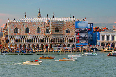 St Marks square as we left Venice on the Wind Surf