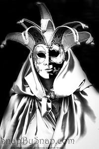 Costumed Reveler of the Carnival of Venice in pure silver