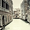 Vintage image of a door on Venice Canal